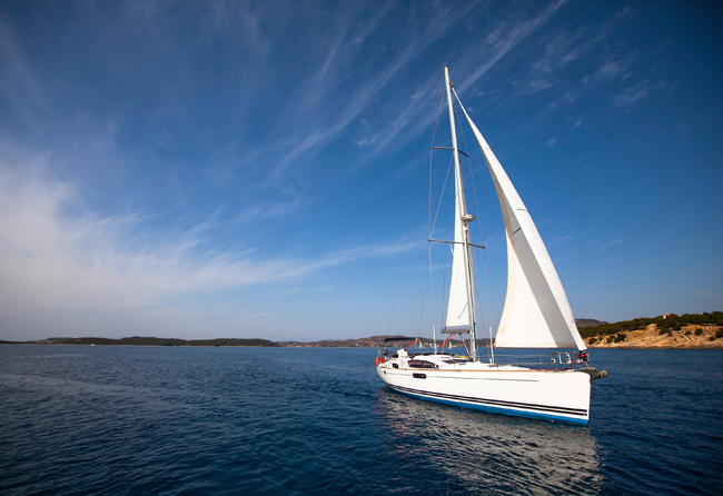 Boat competitor of sailing regatta